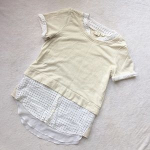 Anthropologie 9h-15 stcl Layered Blouse